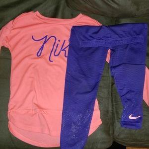 Girls Nike Athletic set